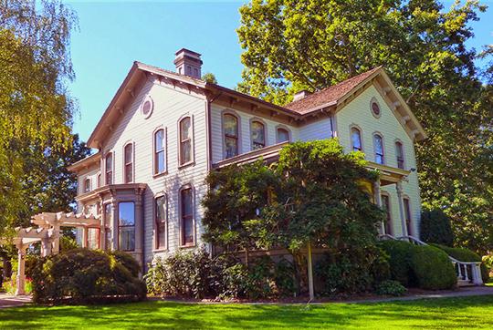 Asahel Bush House, ca. 1877, 600 Mission Street (Gaiety Hill-Bush's Pasture Park Historic District), Salem, OR, National Register