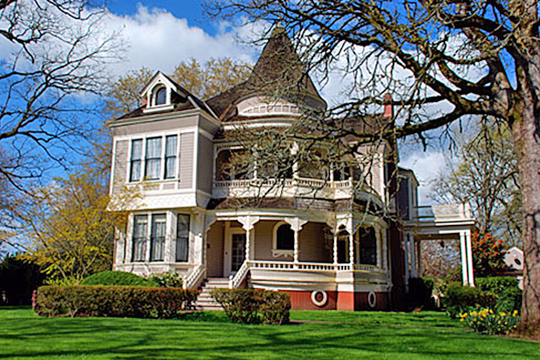 Jesse Settlemier House, ca. 1892, 355 North Settlemier Avenue, Woodburn, OR, National Register