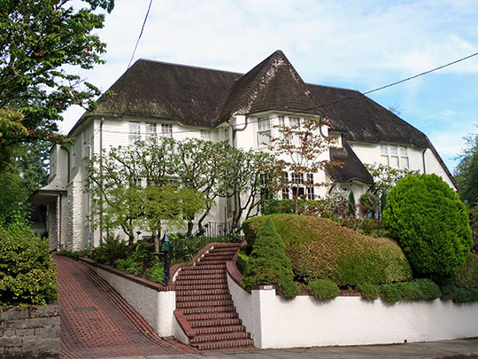 Cora Bryant Wheeler House, ca. 1923, 1841 Southwest Montgomery Drive, Portland, OR, National Register
