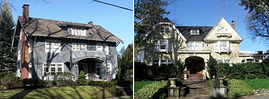 Homes in the Irvington Historic District, Portland, OR.