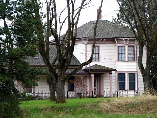 John and Helen Moore House, ca. 1882, 66432 Route 97, Moro, OR, National Register