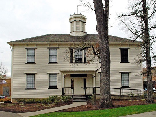 Old College Hall, Tualatin Academy, ca. 1850, 2043 College Way, Forest Grove, OR, National Register