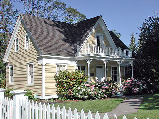 Fanno Farmhouse, ca. 1859, 8385 Southwest Boulevard, Beaverton, OR, National Register