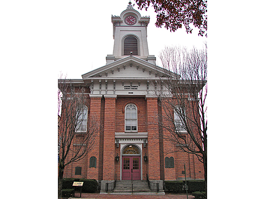 Adams County Courthouse, ca. 1858, Baltimore Street, Gettysburg, PA, National Register
