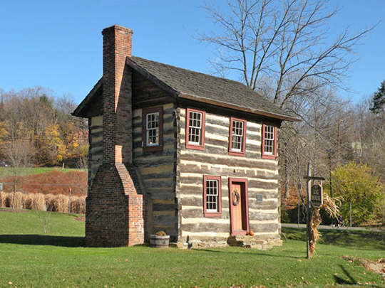 Fulton Log House, ca. 1830, Clifton-Bridgeville Road, Upper St. Clair Township, Allegheny County, PA, National Register