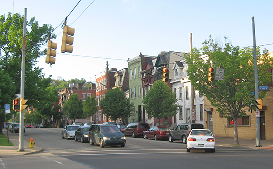 Cedar Avenue and Ohio Street, Dutchtown Historic District, Pittsburgh, PA, National Register
