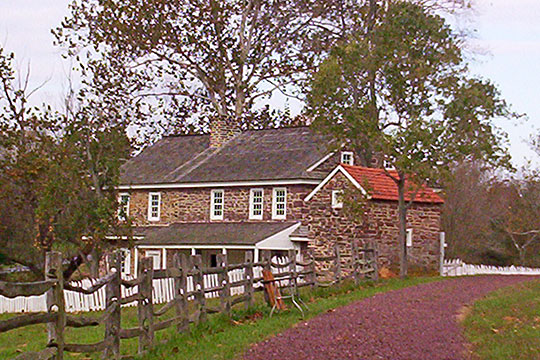 Daniel Boone birthplace (Bertolet Cabin), ca. 1735, Albany Township, Berks County, PA, National Register