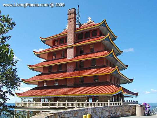 The Pagoda, 98 Duryea Drive, was listed on the National Register of Historic Places in 1972