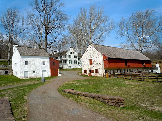 Barn and Mansion, Hopewell Furnace National Historic Site, Union Township, Berks County, PA, National Register