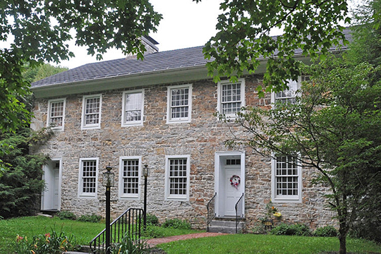 Jacob Isett House and Store (Arch Spring Farm), ca. 1805, Route 1013, Tyrone Township, PA, National Register