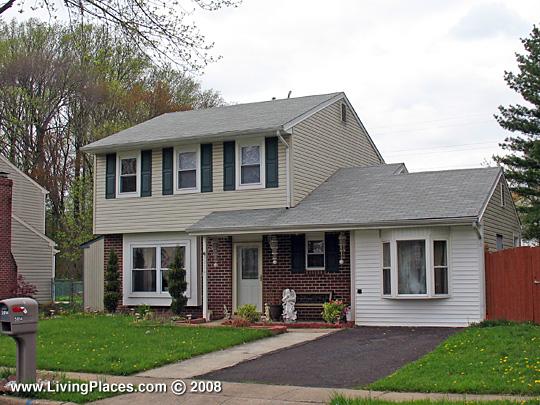 House in Salem Point neighborhood, Bensalem, Bucks County, PA