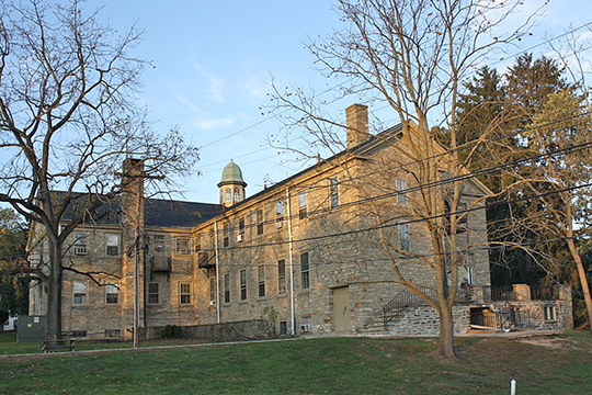Fretz Mansion (Tabor Home for Needy Children), 601 New Britain Road, Doylestown Township, PA, National Register