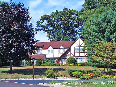 Makefield Estates neighborhood, Lower Makefield, Bucks County, PA