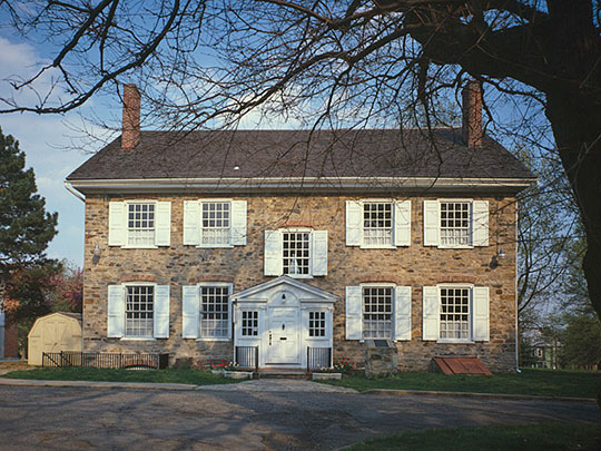 Summerseat, Thomas Barclay House, George Clymer House, ca. 1770s, Legion Avenue, Morrisville, PA, National Historic Landmark