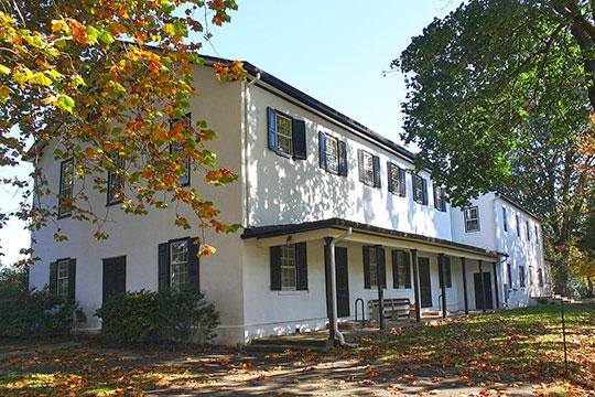 Newtown Friends Meetinghouse, ca. 1817, Court Street, Newtown, PA, National Register