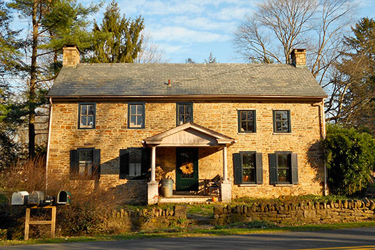 House in the Dyerstown Historic District, Old Easton Road, Plumstead Township, Bucks County, PA, National Register