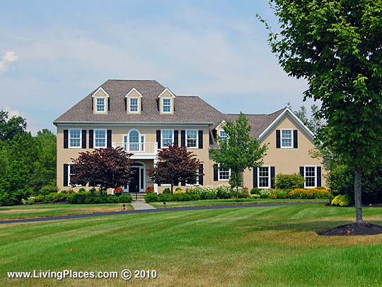 Home in the Laurel Brook neighborhood, Upper Makefield Township, Bucks County, PA