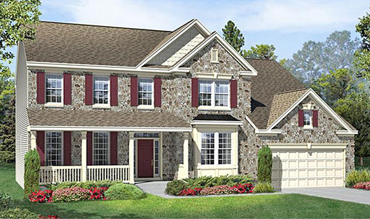 Golf Club Estates at Heritage Creek, Heath Model, Builders Rendering
