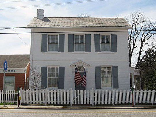 Passavant House, ca. 1809, 243 South Main Street, Zelienople, PA, National Register.
