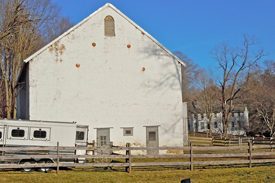 Barn and Farmhouse in the Glen Rose Historic District, East Fallowfield, Chester County, PA