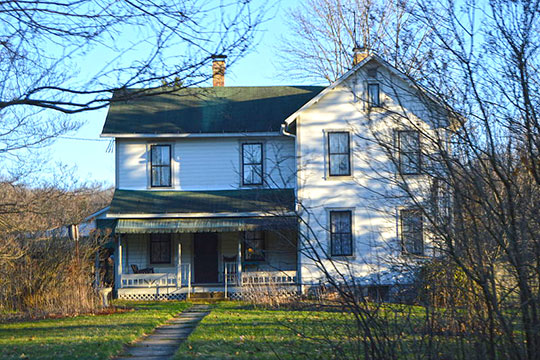 Joseph F. and Anna B. Schrot Farmhouse, ca. 1891, 860 Carbon Mine Road, Lawrence Township, Clearfield County, PA, National Register