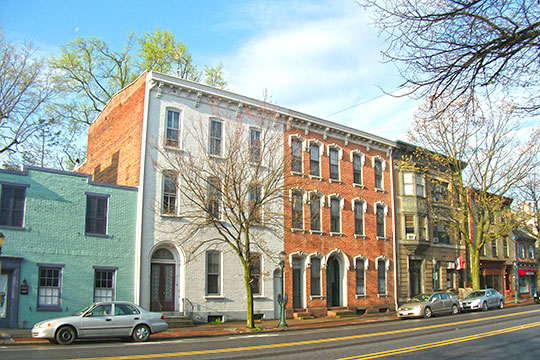 Row homes in the Carlisle Historic District, Carlisle, PA, National Register