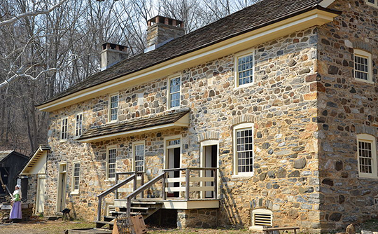 The Pratt House at the Colonial Pennsylvania Plantation in Ridley Creek State Park, Pennsylvania