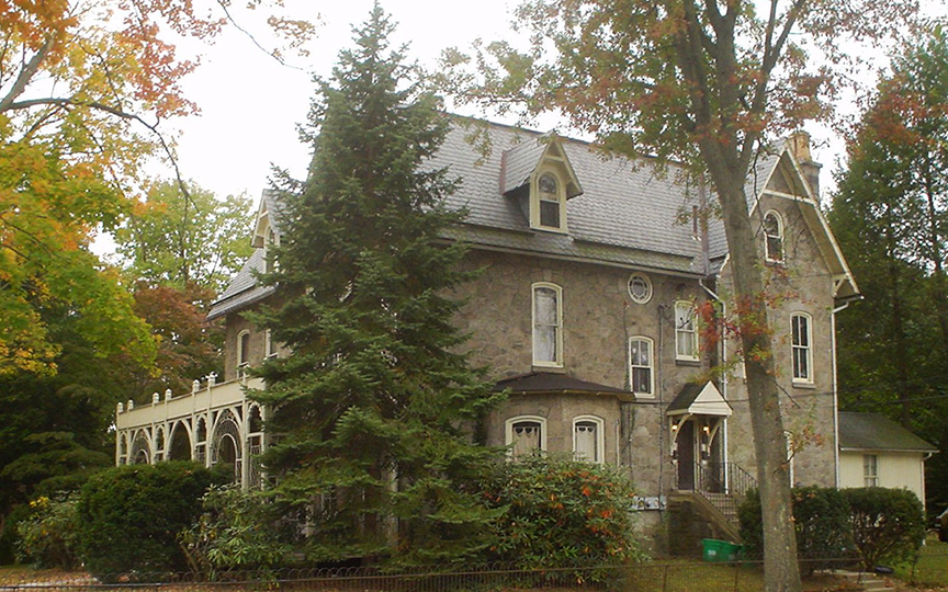 Dr. Samuel D. Risley House, ca. 1877, 430 North Monroe Street, Media, PA, National Register