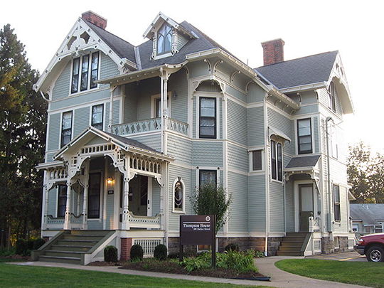 S.R. Thompson House, ca. 1884, 400 Market Street, New Wilmington, PA, National Register