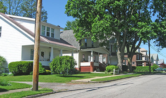 Fairmont Avenue between Delaware and Highland Avenues, part of the North Hill Historic District, New Castle, PA, National Register