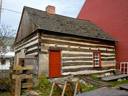 Chestnut Street Log House, ca. 1772, 1110 Chestnut Street, Lebanon, PA, National Register