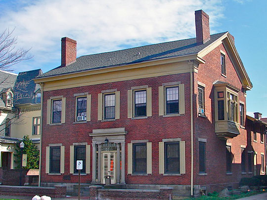 Catlin Hall (Wilkes College), ca. 1843, 02 South River Street, Wilkes-Barre, PA, National Register