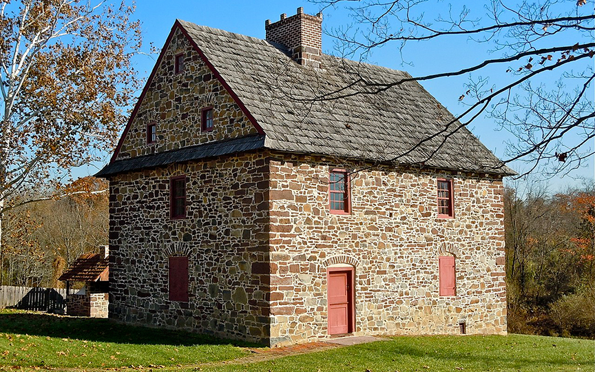 Henry Antes House, ca. 1736, Colonial Road, Upper Frederick Township, Pottstown, PA, National Register