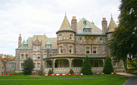 Joseph Sinnot Mansion (Rathalla), ca. 1890, Rosemont College Campus, Lower Merion, PA, National Register