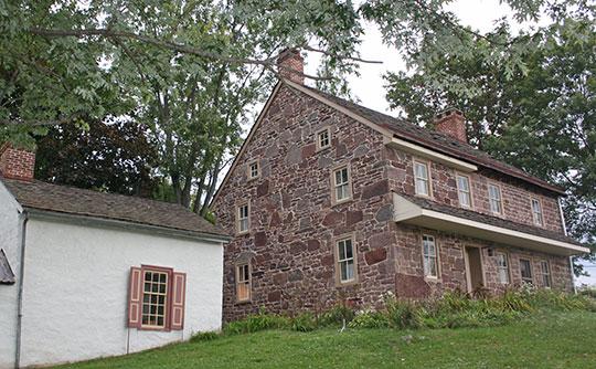 Warren Z. Cole House, ca. 1725, Skippack Pike at Evansburg Road, Skippack, PA, National Register