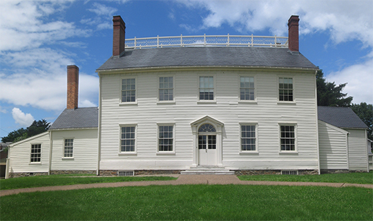 Joesph Priestley House, ca. 1798, Priestley Avenue, Northumberland, PA, National Historic Landmark