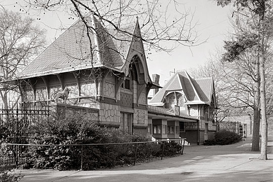 Philadelphia Zoo Entrance Pavilion, Fairmount Park, Philadelphia, PA, Girard Avenue and 34th Street