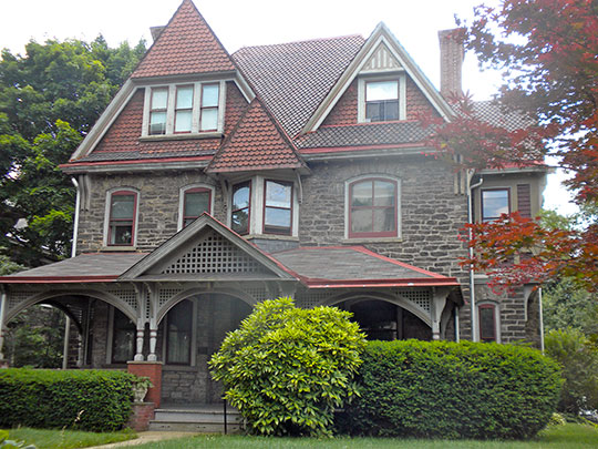 William C. Sharpless House, ca. 1886, 5446 Wayne Avenue, Germantown, Philadelphia, PA, National Register