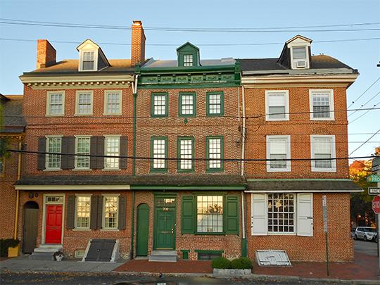 Row Houses, ca. 1767, 700-704 South Front Street, Philadelphia, PA, National Register