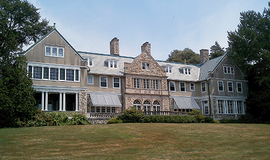 Blithewold Mansion, ca. 1895, 101 Ferry Road, Bristol, RI, National Register