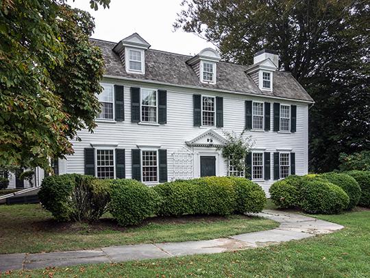Mount Hope Farm (Governor William Bradford House), ca. 1745, Metacom Avenue, Bristol, RI, National Register