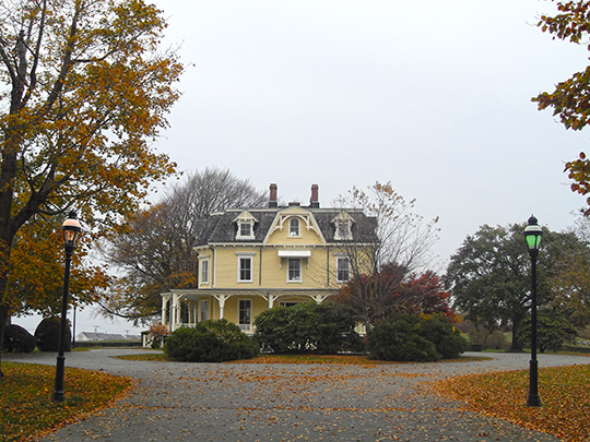 Eisenhower House (Commandant's Residence, Fort Adams), ca. 1873, Newport, RI, National Register