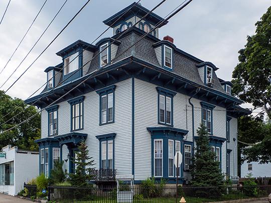 David G. Fales House, ca. 1858, 476 High St. Central Falls, RI, National Register