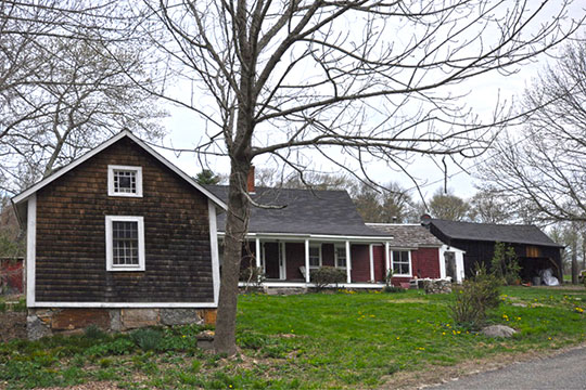 Borders Farm, ca. 1840, North Road, Foster, RI, National Register