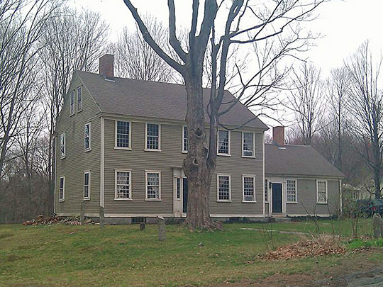 Tyler Mowry House, ca. 1825, 112 Sayles Hill Road, North Smithfield, RI, National Register