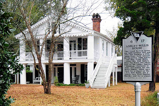 Ashley-Willis House, ca. 1833, 312 West Main Street, Williston, SC, National Register