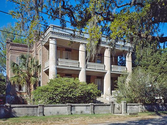 Berners Barnwell Sams House, ca. 1812, 201 Laurens Street, Beaufort, Beaufort County, SC