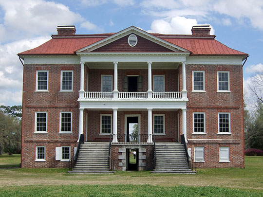 Drayton Hall, ca. 1750, 3380 Ashley River Road, North Charleston, SC, National Register