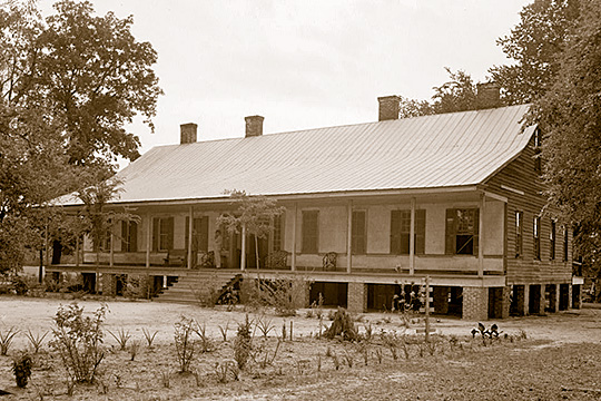 B. C. Flowers House, Wilson Fountain House, ca. 1825, Cash's Ferry Road, Darlington, SC.
