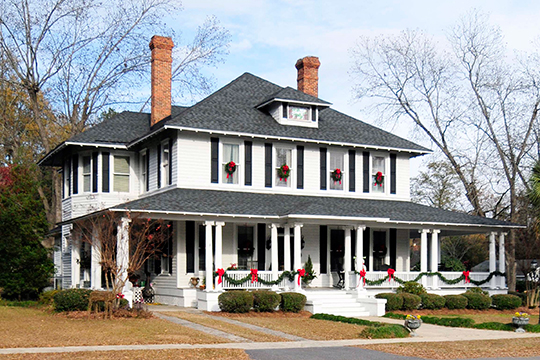 Home at 205 Bamberg Street, ca. 1900, Latta Historic District, Latta, SC, National Register